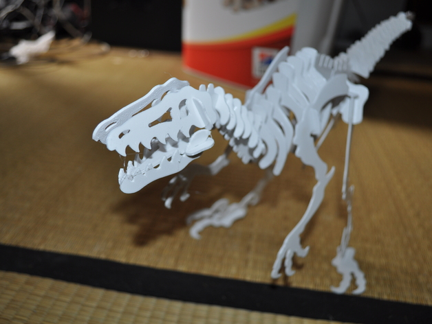 Velociraptor D Puzzle Dino By Hoctopusse Thingiverse
