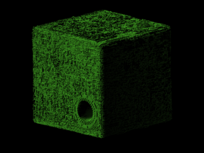 Borg cube scaled one in forty thousand