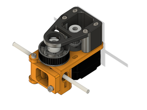 Compact belted extruder, dual drive bondtech V2