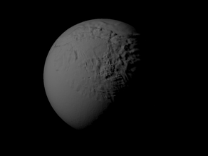 Miranda with known topography scaled one in ten million