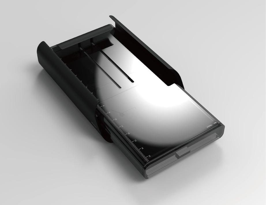 Phone cradle ruler