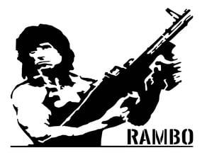 Rambo stencil