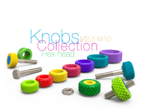 Knobs Collection for Bolt Hex head and Nut M2.5-M10