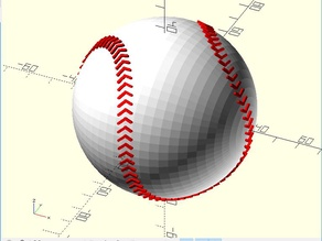 Baseball in OpenScad