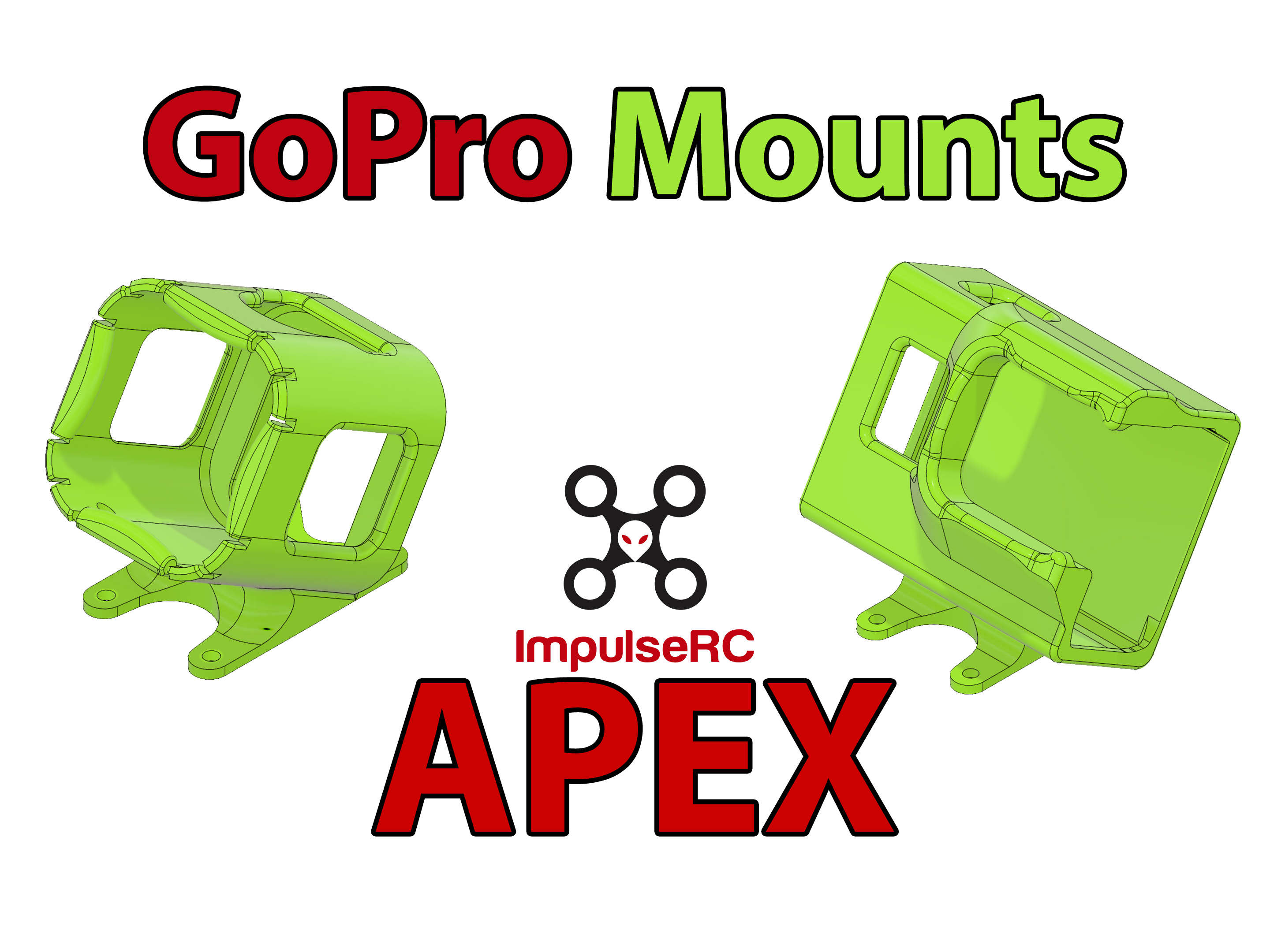 ImpulseRC APEX GoPro Mount 20/25/30° (Session / Hero 5/6/7)