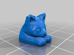 Low Poly Cat Makeup Holder