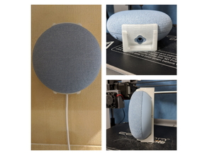 Google Home Mini / Nest Mini Slim Wall Mount (Remixed)