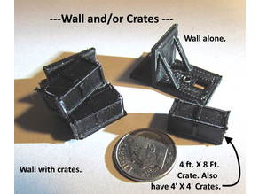 N Scale -- 4 foot X 8 foot crate that can be used on switch machine or other locations.