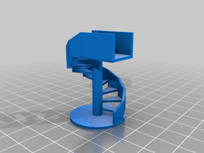 HO scale 9 ft. spiral staircase
