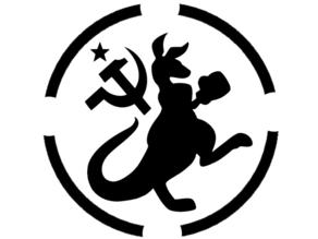 Communist Kangaroo Stencil