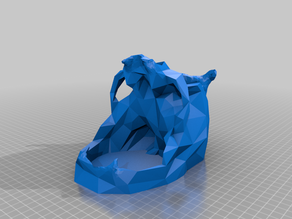 Low-Poly Skull Dice Tower, DM Edition