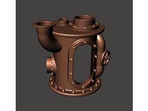 Steampunk Aquarium Pipe Model - Rusty Pipework Shipwreck