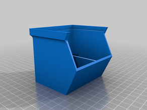 Stackable Small Parts Bin with Divider
