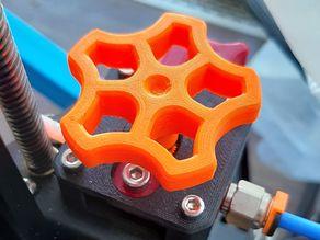 Knob with set screw