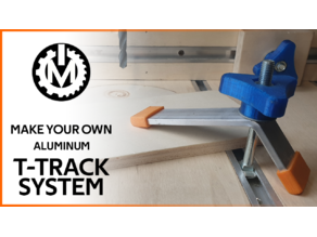 T-Track hold down clamp pad