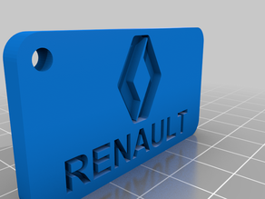 Renault logo key chain