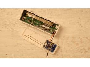 TFA Dostmann CO2 Monitor Wemos D1 Mini Backplate