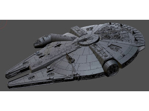 Making Andy Crook's Millennium Falcon printable