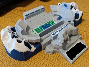 Penn State Themed Pen & Business Card Holder -  Beaver Stadium and Nittany Lion