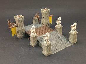 Drawbridge for 28mm miniatures gaming