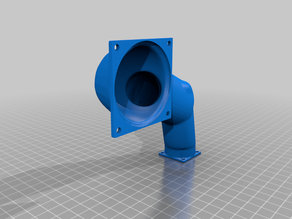 Anycubic Photon S low profile vent duct - one side