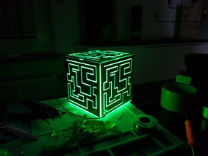 Alien_Cube Remix from a Remix with WS2812b / MQTT