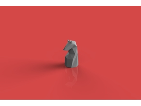 Horse low poly chess