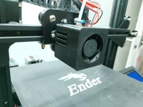 Ender 3 Fan Shroud for 4020 Fan - No fan guard