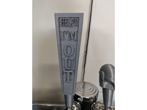 Out Of Beer Tap Handle