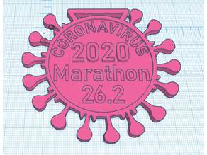 Coronavirus 2020 Marathon Medal V2