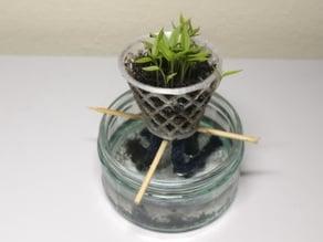 Hydroponics Wick/Net Plant Pot