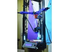 Flying extruder delta printer part