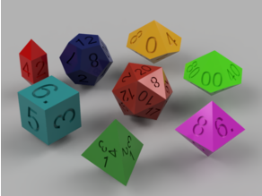 Customizable Polyhedral Dice