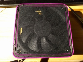 Frame for pantyhose dust filter for 92mm Noctua fan