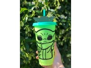 Baby Yoda Straw Topper