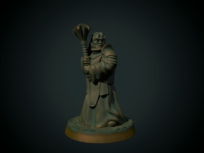 Cleric 28mm (supportless, FDM friendly)