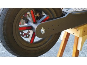 Rear wheel decoration with reflectors