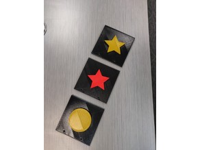 Tactile Book for Visually Impaired - 5 Point Star, Square, Rectangle, Circle, Triangle, Diamond(Rhombus)