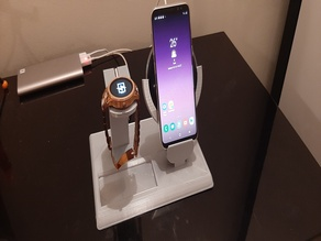 samsung wireless charger + fossil smartwatch stand