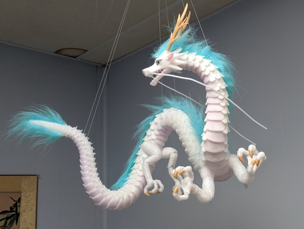 Haku Modified Lung Oriental Dragon With Hollow Body For Wire Elastic Stringing By Bahboh Thingiverse