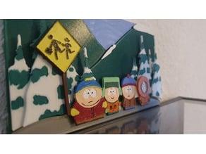 South Park 3D Frame (Cartman, Kyle, Stan and Kenny)