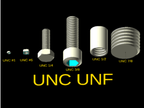 UNC/UNF bolts with OpenSCAD