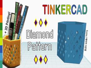 Diamond Pattern with Tinkercad