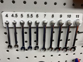 Pegboard Holder for Mini Wrenches (4 - 11 mm)