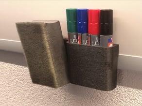 Marker holder for Whiteboard | Edding 250 | 3D printing
