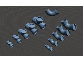 28mm scale Steampunk plumbing pipes