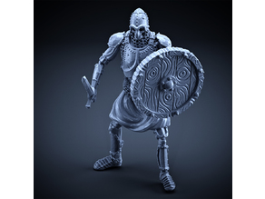 Skeleton - Heavy Infantry - Sword + Round Shield - Idle Pose