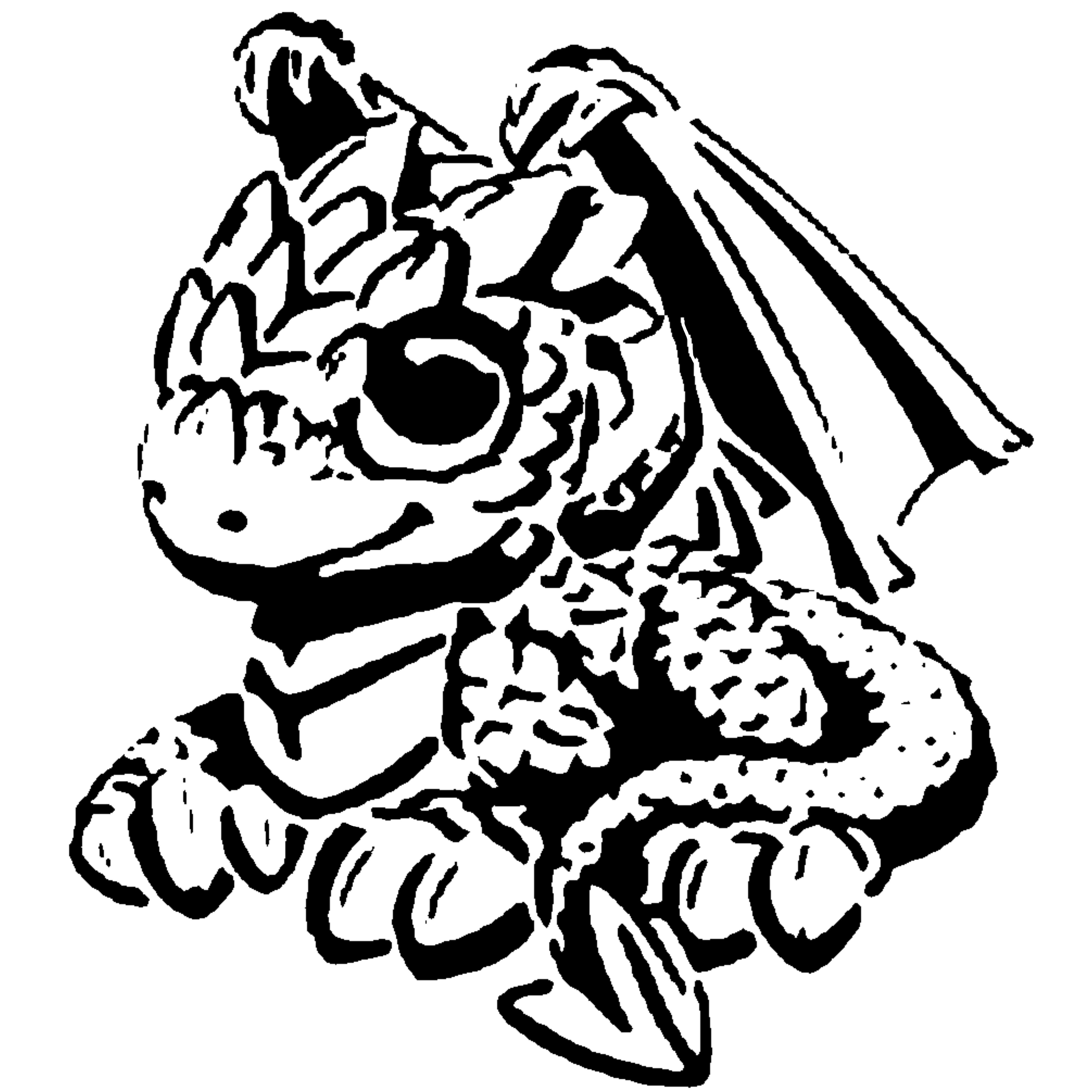 Cute Dragon stencil