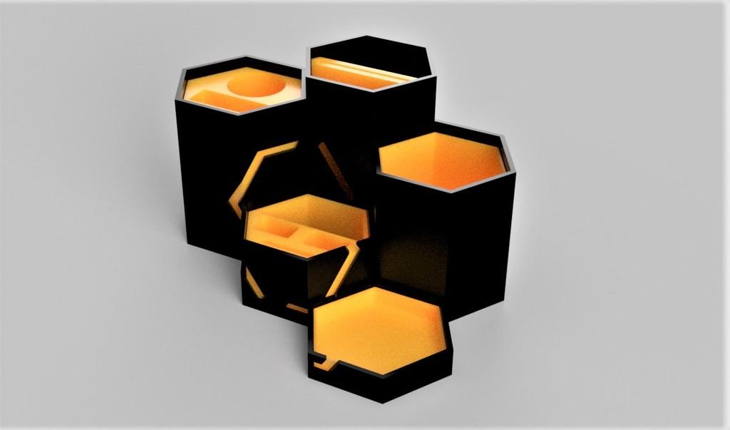 Hexagonal tool organizer