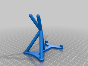 Optimized phone stand, only 33 minutes printing time